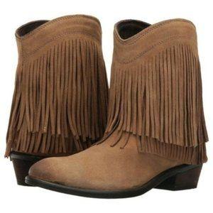 Roper  Womens Fringe Shorty Cowboy Western Boots
